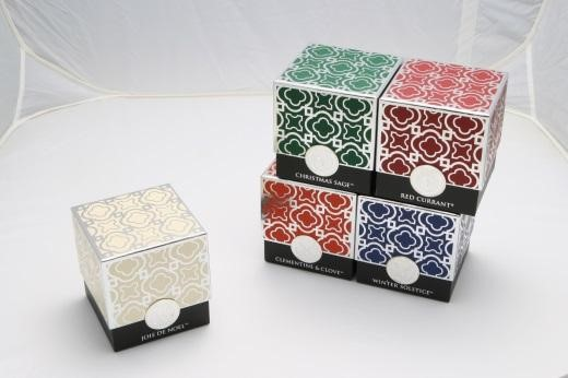 Rigid candle box; lamination; embossing; hot stamping