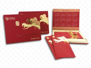 Greeting Card & Envelope; Fancy Paper; Folding, Hot stamping, Pantone