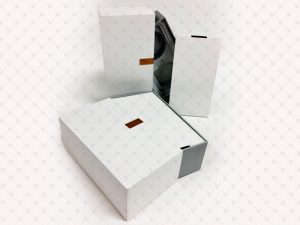 Rigid Box; PP Lamination; Hot Stamping; Embossing,Plastic Tray; Ribbon